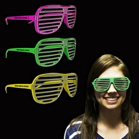 Promotional Neon Sparkle Slotted Glasses