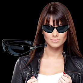 Promotional Black Wrap Sunglasses