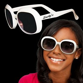 Promotional White Fashion Sunglasses