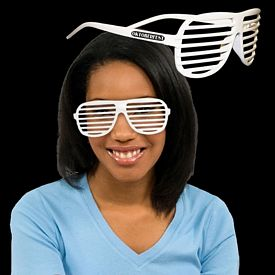 Promotional White Slotted Glasses