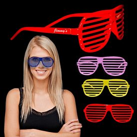Promotional Colorful Slotted Glasses