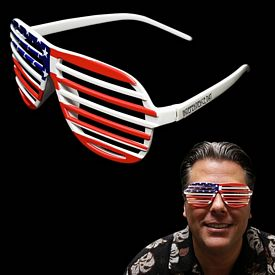 Promotional Patriotic Slotted Glasses