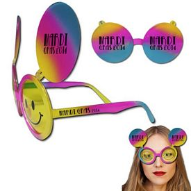 Promotional Smiley Face Flip Up Sunglasses