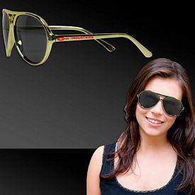 Promotional Gold Metallic Aviator Sunglasses