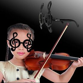 Promotional Black Treble Clef Note Glasses