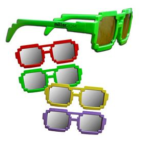 Promotional Assorted Pixel Mirrored Sunglasses