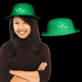 Promotional Green Plastic Derby Hat