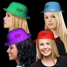 Promotional Assorted Plastic Derby Hats