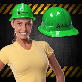 Promotional Green Plastic Construction Hats