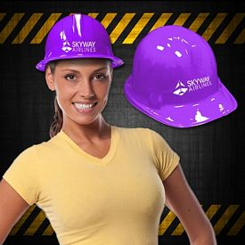 Promotional Purple Plastic Construction Hat