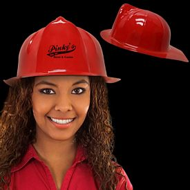 Promotional Plastic Red Firefighter Hat