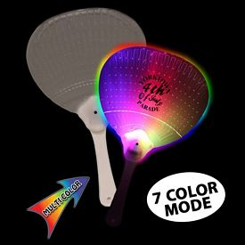 Promotional 10-3/4'' J-Hook LED Hand Fan