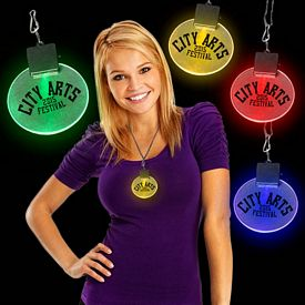 Promotional 2-1/2'' Light-Up Medallions