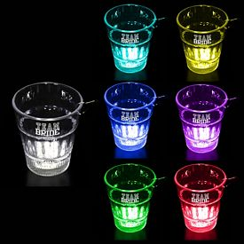 Promotional 2 oz Lighted Rainbow Shot Glass Medallion