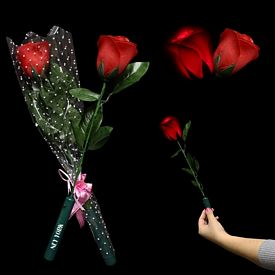 Promotional 14'' Lite Up Red LED Roses