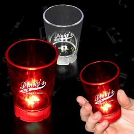 Promotional 2 oz Light-Up Dice Game Shot Glass