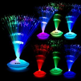 Promotional 12'' Light-Up Fiber Optic Center Piece