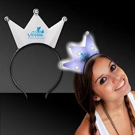 Promotional White LED Crown Headband