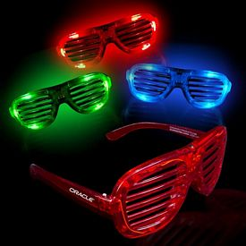 Promotional Light-Up LED Slotted Glasses