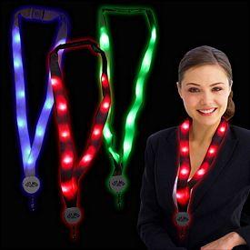 Promotional 32'' Light-Up LED Flat Lanyards