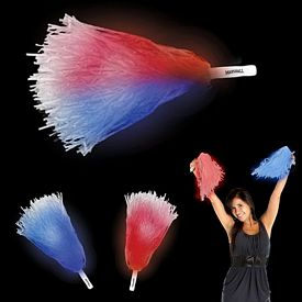 Promotional 16'' Light-Up Pom Poms
