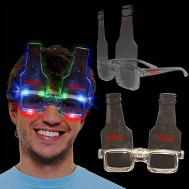 Promotional Light-Up Bottle Glasses