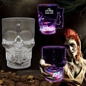 Promotional 14 oz Light-Up Skull Cup