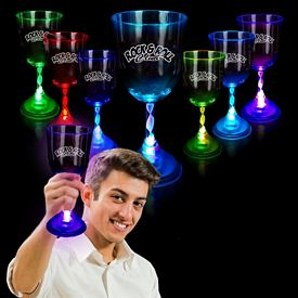 Promotional 10 oz Light-Up Wine Glass
