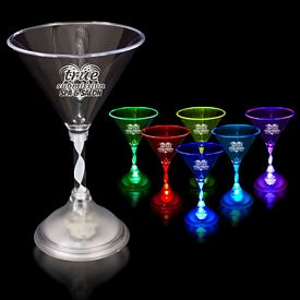 Promotional 7 oz Light-Up Martini Glass