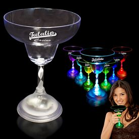 Promotional 10-1/2 oz Light-Up Margarita Glass