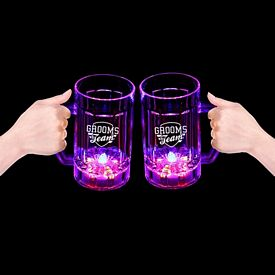Promotional 14 oz Light-Up Multi Color Beer Mug