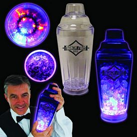 Promotional 16 oz Flashing Light-Up Cocktail Shaker