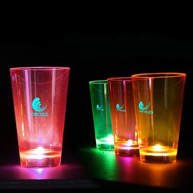 Promotional 12 oz Neon LED Light-Up Plastic Pint Glass