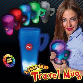 Promotional 16 oz Party Light Up Travel Mug