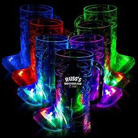 Promotional 16 oz Cowboy Boot Light-Up Cup