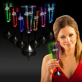 Promotional 7-1/2 oz Clear Top Light-Up Champagne Glass