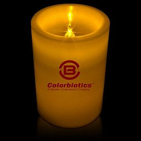 Promotional 4-1/4'' Light-Up LED Pillar Candle
