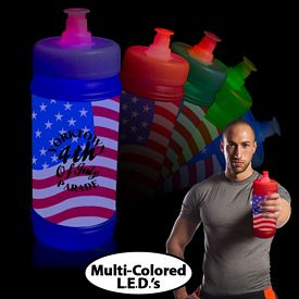 Promotional American Flag Aqua-Lite Sports Bottle