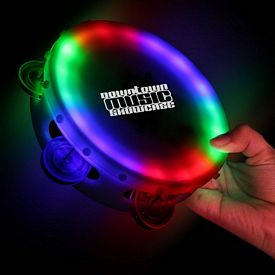 Promotional 6'' Light-Up Tambourine