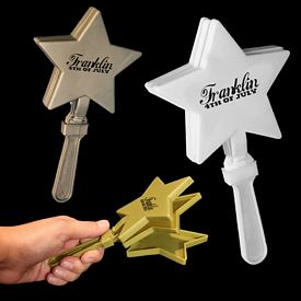 Promotional 7'' Star Shape Hand Clappers