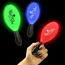 Promotional 7-1/2'' Light-Up Maraca