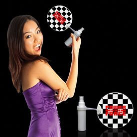 Promotional Checkered Flag Mist-R-Fan