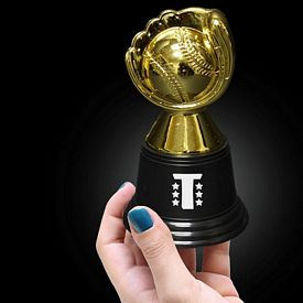 Promotional 4-3/4'' Plastic Baseball Trophy