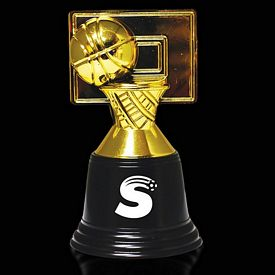 Promotional 4-3/4'' Plastic Basketball Trophy