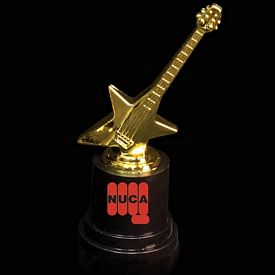 Promotional 5'' Plastic Guitar Trophy