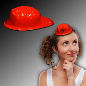 Promotional Mini Red Plastic Firefighter Hat
