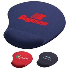 Promotional Solid Jersey Gel Mouse Pad With Wrist Rest