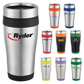 Custom Carmel 16 Oz Travel Tumbler