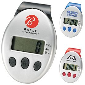 Promotional The Trainer Clip-On Pedometer