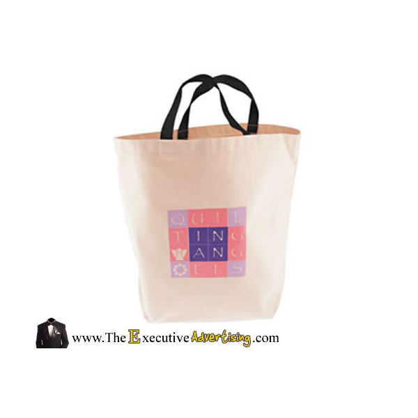 1ea3d255c Promotioinal 10 Oz Natural Canvas Gusset Jumbo Tote Bag